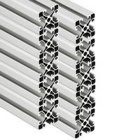 PremiumX 10x 2000mm Aluminium Profil Aluprofil 40x40 mm Nut 8 Strebenprofil eloxiert