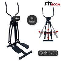 FITecom - Crosstrainer mit LCD Display Air-Walker Heimtrainer Fitness Vertikale & Horizontale Schwingbewegung