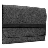 ROYALZ Filz Hülle für Huawei Matebook D 14 Schutzhülle 14 Zoll Sleeve Design Cover Tasche Case, Farbe:Dunkelgrau