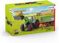 Schleich Traktor mit Anhänger-42379