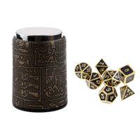 7Pcs polyedrische W/ürfel f/ür Dungeons und Drachen Spiel W/ürfel