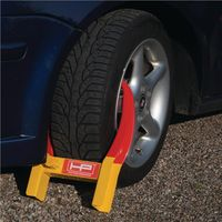 No-Name-Produkt Parkkralle Stahl,pulv.L485xB345xH90mm G.3,8kg rot/gelb SB Verpackung