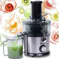 Duronic JE7C Zentrifugaler Entsafter für Obst und Gemüse   elektrisch   Entsafter   Juicer   Edelstahl   Große Einfüllöffnung   2 Geschwindigkeiten   800 Watt   Anti-Tropf   1L Saftbehälter   BPA-Frei