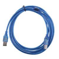 USB Druckerkabel Scanner Kabel USB A auf USB B Drucker Kabel Anschlusskabel für HP Canon Dell Epson Blau