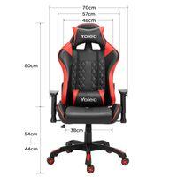 bequemer Gaming Sessel 150 kg Belastbarkeit YOLEO Gaming Stuhl Kunstleder PC Stuhl drehbar h/öhenverstellbar Gaming Chair mit Kopfst/ütze und Fu/ßst/ütze Pures Schwarz