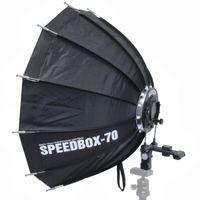 Impulsfoto SMDV Speedbox-70, Mobile Zwölfeckige-Softbox 70cm, Weiche Ausleuchtung, Für entfesselte Aufsteckblitze mit Standard ISO / Sony Multi Interface Blitzschuh