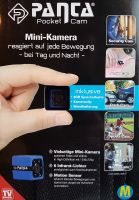 Panta Pocket Cam Minikamera Motion Sensor Micro SD Karte inkl. Ladekabel, Installationsset, 8 GB SD Karte, Body Clip, Clip fürs Auto Mediashop