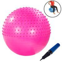 Gymnastikball mit Noppen 75cm inkl. Handpumpe Pink Fitnessball Yogaball Sitzball Sportball Aerobik Balance Pilates Ball