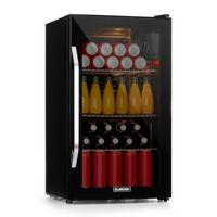 Klarstein Beersafe XXL Onyx Getränkekühlschrank  ,  80 Liter Fassungsvermögen  ,  5 Kühlstufen: 5 - 10 °C  ,    ,  geräuscharm: 42 dB  ,  3 flexible Metallböden  ,  LED-Licht  ,   Kühlschrank für Flaschen  ,  Glastür mit schwarzem Rahmen  ,  Onyx