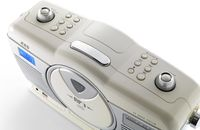 ICES Tragbares Retro-Radio ISCD-33, CD/MP3-Player, Farbe: Weiß