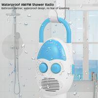 Wasserdichtes Duschradio AM / FM-Radio, mit Lautsprecher für Nachttisch im Badezimmer, Garage Blau Badezimmer Wasserdichtes Radio  Musikradio Eingebauter Lautsprecher