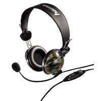 """Hama """"Woodland"""" PC Headset, Stereophonisch, Schwarz, verkabelt, halboffen, 20 - 20000 Hz, 32 Ohm"""