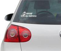 Aufkleber / Autoaufkleber - JDM - Die cut - Baby On Board (Girl) Decal Auto Fenster Laptop Sticker - weiß - 149mmx50mm