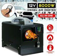 Standheizung 8kw Diesel Standheizung Diesel 12V Luftheizung Heizgerät Dieselfahrzeuge LCD Thermostat Heizung Parking Heater Kraftstofftank Set für Wohnmobil Auto KFZ LKW PKW