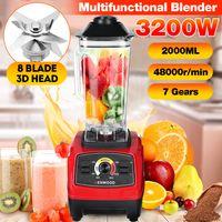MECO Standmixer, 3200W Smoothie Maker 2L Große Kapazität Glas Blender Mixer mit 8 Edelstahlklingen, 15 Geschwindigkeit Einstellbar, zum machen Smoothies, Fruchtsaft, Gemüsesäfte