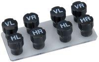 IWH Rad-Markierungsset Ventilkappen 8-teilig 2 x 4 Stück