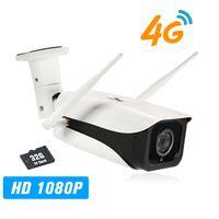 1080P IP-Kamera 4G Wireless IP-Kamera IR-CUT Nachtsicht 3G GSM Outdoor Wasserdichte CCTV-Kamera Videoueberwachung Onvif IP-Kameras mit 32 GB TF-Karte und SIM-Kartensteckplatz
