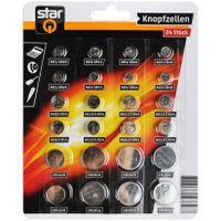 Knopfzellen Uhren-Batterien AG0 bis AG13 CR1620 2016 2025 2032 Alkaline Uhren