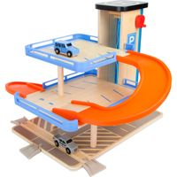 Small Foot 10343 Spielwelt Parkhaus 'Business class', natur/blau/orange