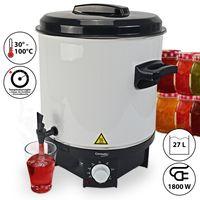 GERMATIC Einkochautomat- und Heißgetränkeautomat Glühweinkocher mit Zapfhahn