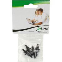 InLine® Lüfter Entkopplung, 4er Pack für Lüfter aller Größen von 60 bis 120mm