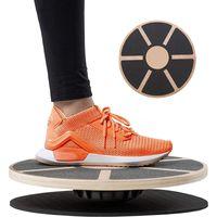 Yoga Fitness Holz rutschfeste Balance Board,  Balance Training rundes Balance Board, Durchmesser 39.5 cm