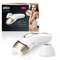 Braun Silk-Expert Pro 5 PL5117 IPL-Haarentfernungsgerät für dauerhaft sichtbare Haarentfernung, Weiß & Gold