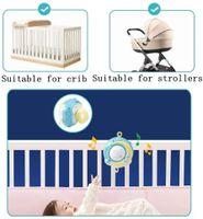 Baby Mobile Bett Glocke S/äuglingsbett Bett H/ängen Musikglocke Elektrische Spieluhr Bettdekoration Spielzeug Mit 12 Arten S/ü/ße Melodien
