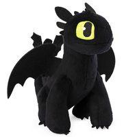 Ohnezahn Drache | DreamWorks Dragons | 20cm Plüsch Figur | Softwool | Toothless