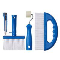 Tapetenkleber-Set - Cuttermesser + Nahtroller+ Kleisterbürste + Glättbürste