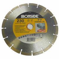 Ironside 241-008 Diamant Schleifscheibe 230mm 2,5/7mm Diamond 100, segmentiert, grau