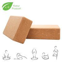 karpal 2er Set NaturKork Yogaklotz Hochwertig Hoehe Dichte Bloecke Yoga Block Yogablock