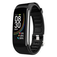 Smart Watch Körpertemperatur Blutdruck Herzfrequenzmesser Schwarz 230x18x2mm