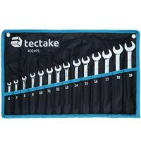 tectake Schraubenschlüssel Set 14-tlg. - schwarz