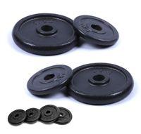 breluxx® Hantelscheiben Set Guss (2x7,5 kg) Gewichte Gewichtsscheiben 30 mm