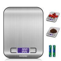 ADORIC Digitalwaage Professionelle Electronische Waage, Küchenwaage mit LCD Display-wunderbare Präzision auf bis zu 1g (5kg Maximalgewicht) - Silbrig