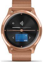 Garmin Vivomove Luxe Quarz Rose Gold PVD Milanese Strap Damen Smartwatch