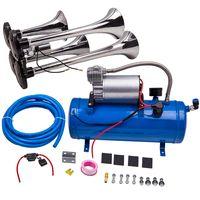 Air Horn Kit 6 Liter mit 150 PSI 12v 6L Luft Kompressor Compressor 4 Trompete