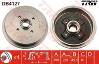 Trw Bremstrommel Hinterachse DB4127