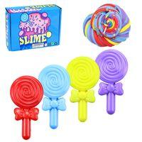 6 PCS Lollipops Slime Kit Obstkuchen Superweiches, nicht klebriges DIY-Spielzeug RRX201127105