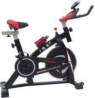 ISE Indoor Cycle Ergometer Heimtrainer mit Armauflage,Puls&gepolsterte,LCD Anzeige,Fitnessbike Speedbike mit Riemenantrieb-Fahrrad Ergometer,8kg Schwungrad,bis 135Kg SY-7802