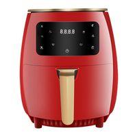 4,5L Heißluftfritteuse, Rot Friteuse Heissluft Fritteusen Air Fryer mit Digitalem LED-Touchscreen, ohne Öl, Pizza Deutsche Pommes Frite