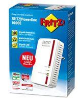 AVM FRITZ!Powerline 1000E (1.200 MBit/s ideal fu00fcr HD-Streaming) - Plug-Type F (EU)