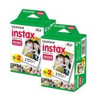 2 x Fuji Instax Mini Film Doppelpack für Fuji Instax Mini Sofortbildkameras
