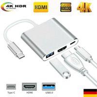 Type C USB 3.1 Auf USB-C HDMI 4K USB 3.0 HUB Kabel Digital AV Multi Port Adapter
