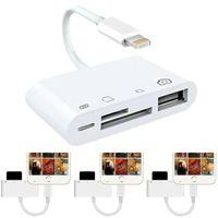 Multifunktionale Hub 4 in 1 To TF SD-Kartenleser Kamera USB OTG Adapter für iPhone