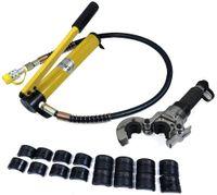 6T Hydraulisch Presszange Rohrpresszange V-Kontur Hydraulik Crimpzange Radialpresse Kupferrohr V12-28 TH16-32 Kontur Pressbacken 360°
