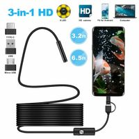 1m / 2m 3in1 Typ-c / USB-Schnittstelle USB 6 LED Endoskop HD-Kameras Handy-Endoskopkamera Inspektionskamera Für Android / Laptop / PC