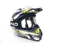 KXD Pro Kinder Cross-Helm Motorradhelm Off Road Grün L inkl. Brille Visier