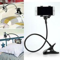 Universal Handy Halterung Tisch & Bett Schwanenhals Smartphone Ständer Halter Schwarz